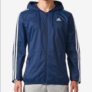 Adidas Three Stripe Windbreaker Jacket